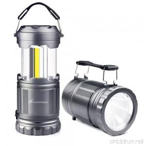 LED Camping Flashlight Lanterns - Moobibear 2-In-1 Portable LED Camping Lantern Handheld Flashlights Battery Powered Water Resistant Collapsible Lantern for Night Fishing Hiking Emergencies 2 Pack - B077984JJJ