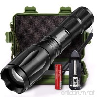 MIZOO LED Flashlight Torch Adjustable Focus Zoomable Mini Super Bright Torchlight - B074M623Q8