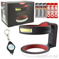 Nebo Glow Tumbler Handle Flashlight 220 Lumen 6668 with 3 X Energizer AAA Alkaline Batteries & LightJunction Keychain Light - B078KL4Y9M