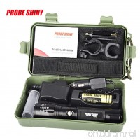 VIASA 5000 Lumens X800 Zoomable XML T6 LED Tactical Flashlight+18650 Battery+Charger+Case - B01MTJY0A5