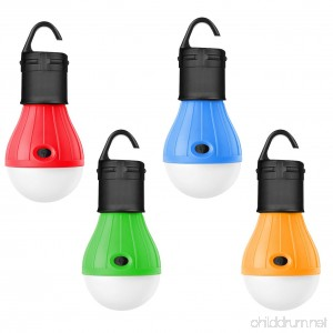 Darller 4 Pack Tent Light Bulb Waterproof LED Camping Lantern Portable Emergency Lights for Camping Party Hiking Fishing Hurricane Storm Outage Outdoor Lighting - B07DVJF4Q5