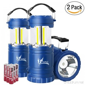 DealBang Advanced COB Camping Lantern with LED Flashlight Lightweight & Ultra Bright with 300 Lumens Great for Hurricanes Power Outage Emergency Battery Powered Collapsible Portable Kid'Lights - B077M3V1BD