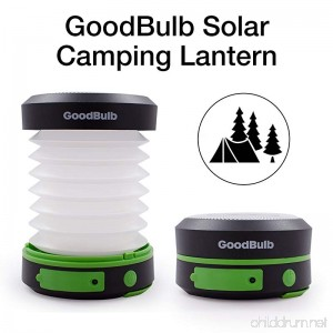 GoodBulb Compact Solar Lantern - Collapsible Lantern - Camping Accessories - Solar Lights - LED Rechargeable Light - USB Power Bank - B078MX9J2K