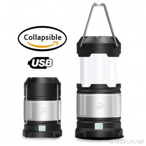HiHiLL USB Rechargeable Camping Lantern Flashlight Portable Ultra Bright Led Lamp Water Resistant Light with Hook Survival Kit for Emergency Hurricane Outdoor Hiking Fishing - B06WP2VSX9