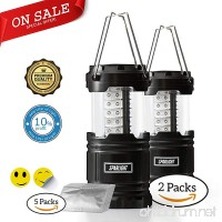 Sparlight Portable Outdoor LED Camping Lantern (3 AA Batteries)- Emergency Power Outages  Storms  Highway Crisis  Multipurpose  Lightweight and Collapsible (w/ 30 pieces of mosquito repellent patch) - B077RYB5MV
