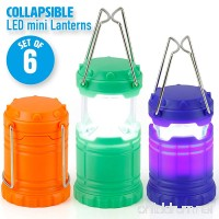 Super Bright Mini Collapsible LED Lantern (6 Pack) - B07DFQD3Q4