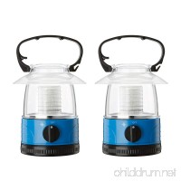 ZZD 2 Pack Portable LED Camping Lantern Lights Mini Kid Waterproof Lightweight Camping Tent Light For Emergency  Hurricane  Outage (4AA Battery Operated) - B07B7L3Q36