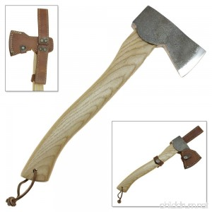 Norse Viking Axe Hatchet Camping & Hiking Leather Holster Sheath with Lanyard - B071DVTCJZ