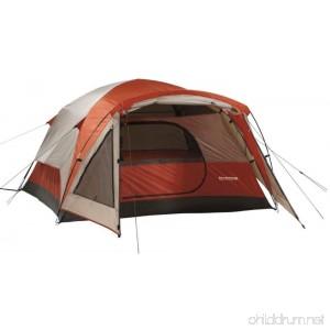3 Person Tent Wilderness Lodge - Dome Style In Burnt Orange - B016MT3SKQ