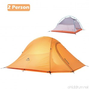 Azarxis 1 2 3 Person Man 3 4 All Season Tents for Camping Backpacking Easy Set Up Waterproof Lightweight Professional Double Layer Aluminum Rod Hiking Hunting - B06WWPC9WT