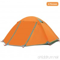 Azarxis 1 2 Person 3 4 Season Backpacking Tents Easy Set Up Waterproof Lightweight Professional Double Layer Aluminum Rod Tent for Camping Outdoor Hiking Travel Climbing with Carry Bag - B07568TRG6