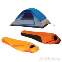 High Peak USA Alpinizmo Water Proof 20F +Ultra Lite 20F Sleeping Bag & 5 Men Tent Combo One Size Blue/Orange - B078SCPL9F