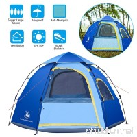Rxlife Instant Family Camping Tent for 3-4 Person Large Automatic Pop Up Sundome Tents Waterproof with Vent Mesh Doors and Windows - Ideal Shelter for Outdoor Backpacking Hiking Travel Beach - B07BQJN3L8