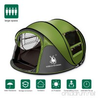 Rxlife Instant Pop Up Camping Tent for 3 Person Automatic Hiking Dome Tent with Vent Mesh Doors and Windows Shelter for Outdoor Family Camping Hiking Backpacking Travel Beach Green - B07BQMPYQM
