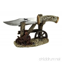 "10 1/2"" Decorative Horse Handle / Blade Knife with Western Display Stand - B01MA36HYX"
