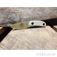 ESEE Knives Dark Earth Candiru Fixed Blade with Grey Micarta Scale Handles and Molded Polymer Sheath - B016QH9ZEW