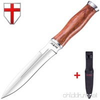 Grand Way Hunting Knife - Fixed Blade Survival Bowie Stainless Steel Knife with Wood Handle - 2654 WP - B06Y5N8YYW
