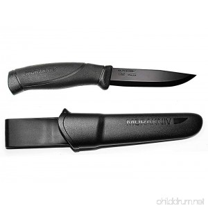 Morakniv Companion Black Fixed Blade Tactical Knife with Sandvik Stainless Steel Stealth Blade - B00ZZAUO3I