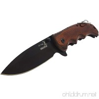 8.25 ELK RIDGE EDC BROWN PAKKAWOOD ASSISTED TACTICAL FOLDING KNIFE Blade - B0180PUROU