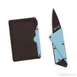 Credit Card Knife Wallet Card Knife Credit Card Sized Folding Wallet Knife Black Stainless Steel Blade - Blue Steel Handle Multi Function Card Shape Survival Camping Pocket Wallet Knife / Cutter - B0784MHZQZ