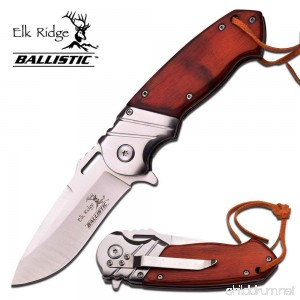 Elk Ridge 8 Wood Gentleman SPRING ASSISTED OPEN Hunting Folding POCKET KNIFE - B01MYW5X1M