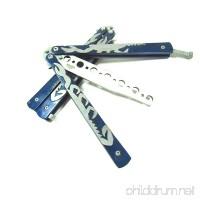 Icetek Sports Metal Practice Butterfly Trainer Knife  Blue Scorpion - B00SIV9JNW