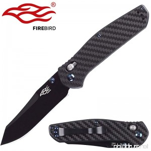 Knife F7563-CF Firebird by Ganzo G7563 Pocket Folding Hunting Knife Carbon fibre Handle SS Blade - B06X99N1QS