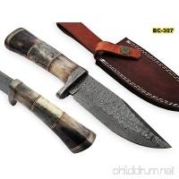 BC-307 Limited Edition - Custom Handmade Damascus Steel knife -Coloured Bone Handle - B075L6M9F5