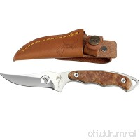 Elk Ridge ER-059 Series Fixed Blade Hunting Knife Straight Edge Blade Wood Handle 7-Inch Length - B004R7JF9O