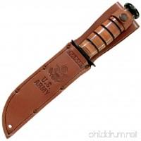 Ka-Bar 1220 US Army Straight Edge Fighting/Utility Knife with Leather Sheath - B000BSWE9Q