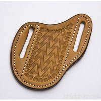 Leather Knife Sheath  Slanted Pancake Sheath  Tooled Leather Sheath  Belt Sheath  Leather Sheath for Knife - B06XHZ8RVN