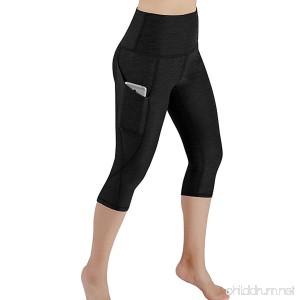 Birdfly Solid Color Petite Tall Capri Pants High Waist Long Yoga Legging Pants with Pocket for Women Girl - B07DCQ2SQD