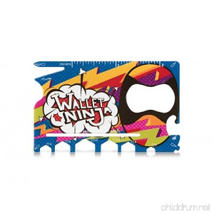 LIMITED EDITION (HIPSTER) - Wallet Ninja 18 in 1 Multi-Purpose Credit Card Size Pocket Multi-Tool - B072L3HM73