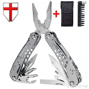 Multitool with Mini Tools Knife Pliers - Best Swiss Army Knife and Tool - Big Attachable Set Bits - Cool Utility Multi Function Tool - Good Heavy Ultimate Multi-tool Kit for Camping - Grand Way 2238 - B01LWJ8KIL