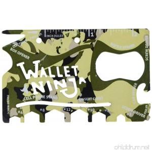 Wallet Ninja 18-in-1 Multi-purpose Credit Card Size Pocket Tool (Camo) - B00QHC9XE4
