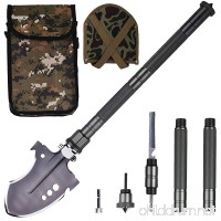 Glossday Military Folding Shovel Multitool Portable Survival Shovels Tactical Entrenching Tool Heavy Duty Emergency tool  Outdoor Gear for Camping Backpacking Fishing Hiking - B07BK34LPX