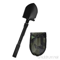 Pusheng Military Portable Folding Shovel Lifesaving Shovel Camping Shovel Outdoor Self-defense - B07DLT8CPD