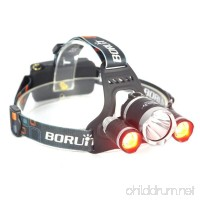 BESTSUN Red Light Headlamp Night Hunting Red Headlight Rechargeable Headlamp with Red & White Light Red Varmint Predator Hunting Light Night Vision Headlamp for Astronomy Aviation Detector - B00J97O4HA