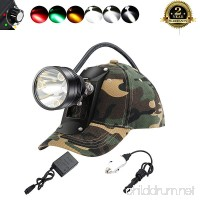 Bright Cree LED Headlamp-Red&Green Light For Coon Hog Predator Hunting/Amber Light For Bowfishing/3 White Light Mode For Mining Hiking Camping Equipped Rechargeable Battery/Included Instruction Manual - B07BK5QY9K