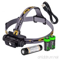 EdisonBright Bundle Fenix HL60R 950 Lumen USB rechargeable CREE XM-L2 T6 LED Headlamp Fenix 18650 rechargeable Li-ion battery with 2 X CR123A back-up batteries - B01BFK3KNM