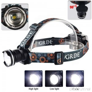 GRDE 900 Lumens Adjustable Wear-Can LED Head Lamp - Black - B00XTYBDGE