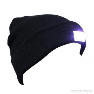 VANCIC Ultra Bright 5 LED Hands Free Unisex Lighted Beanie Cap/Hat Power Stocking - 12000MCD of Perfect Flashlight for Outdoors Sports Hunting Camping Grilling Jogging Fishing Handyman Working - B01MXHYSAW