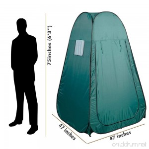 Kseven Portable Pop Up Changing Tent - Green Cabana Fishing Bathing Toilet Camping Private Dressing Room Polyurethane coated Zipper Door Easy to deploy Folds up small Carring bag with handle. - B015P0WVRE