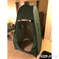 Outdoor Shower Tent  Instant pop-up pod Dressing Tents  Waterproof Portable Camping Toilet Changing Room - with window - Beach Privy Shelters Bathing Fitting Tent  with Carrying Bag (Navy Green) - B071L9XZ35