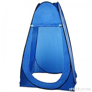 Portable Pop-Up Privacy Tent Waterproof Outdoor Toilet Shower Shelter Changing Room Camping Beach Dresses Tent With Carry Bag Blue - B0756G1DLL