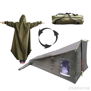 SEWEI Single 1 Person Tent Raincoat Tent Trekking Pole 4 Season Freestanding for Camping Backpacking Tent - B07CVFNTC9