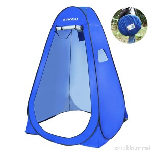 WINOMO Shower Tent Pop Up Changing Tent Outdoor Privacy Shelter for Camping Park Toilet Beach with Carry Bag Portable Changing Room - B07D99VRSG