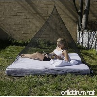 Black Mesh Netting Mosquito Pyramid Tent Single Or Double - B01EGP7R5A