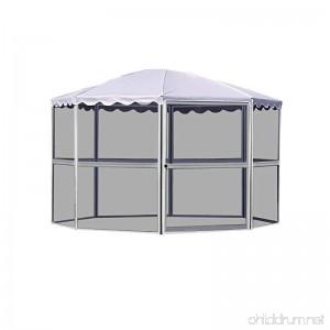Casita 8-Panel Round Screenhouse 83222 White with Gray Roof - B004G7RT20