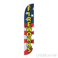 LookOurWay Fireworks American Flag USA Feather Flag  12-Feet - B06Y3TQRJL
